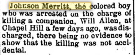 Johnson Merritt discharged